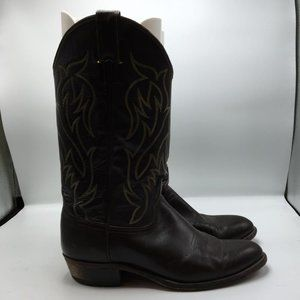 Justin Boots Men Cowboy Western Boots Leather 1135